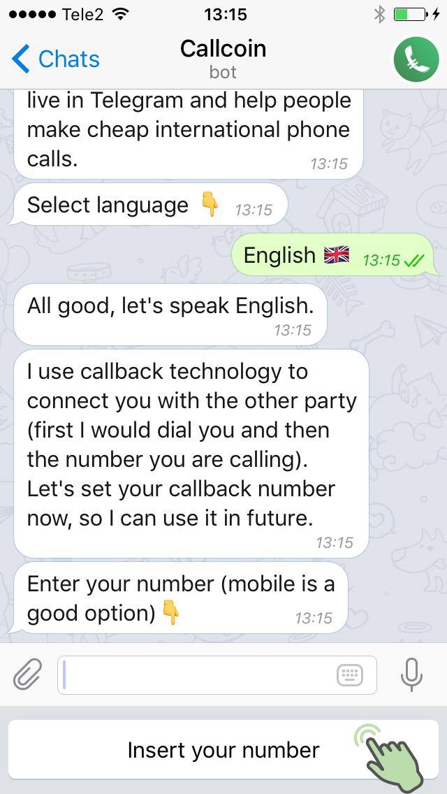 Callcoin – Call via Telegram, pay in Bitcoin